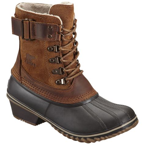 womans boots sorel s winter fancy lace ii winter boots elk