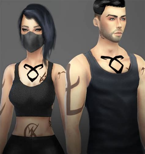 sims 4 tattoos onelama shadowhunters runes sims 4 downloads