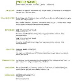 Basic Resume Exles by The Basic Resume Template Can Help You Make A Professional And Document