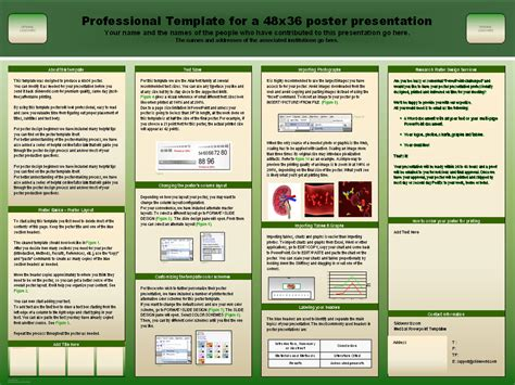 mast powerpoint poster template free powerpoint research poster