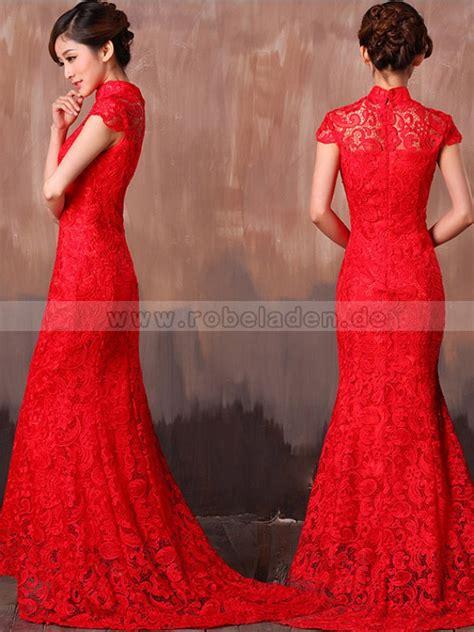 Brautkleid Rot Spitze rote brautkleider spitze meerjungfrau mit 196 rmel schleppe