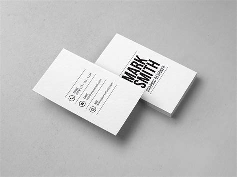 minimal business card template 28 graphic pick