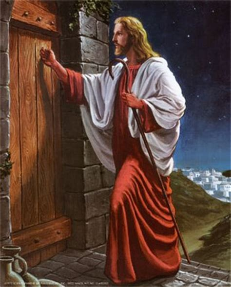 he ll come knocking at your door books jesus said i stand at the door and knock if any hear