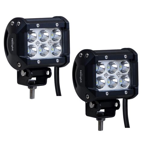 4 Led Light Bar Save 17 Nilight 2pcs 18w 1260lm Spot Driving Fog Light Road Led Lights Bar Mounting