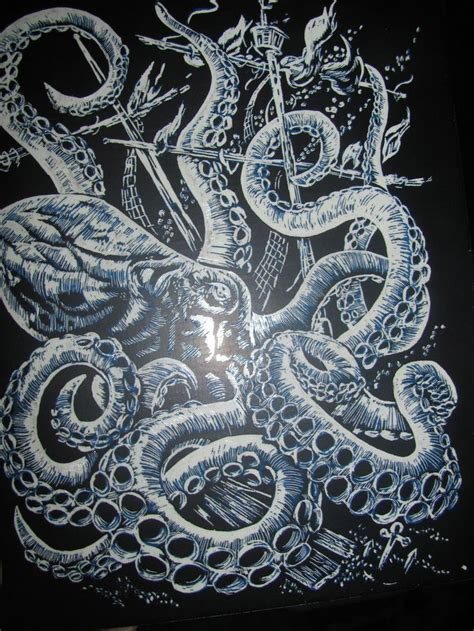 kraken by katdudev on deviantart beautiful art