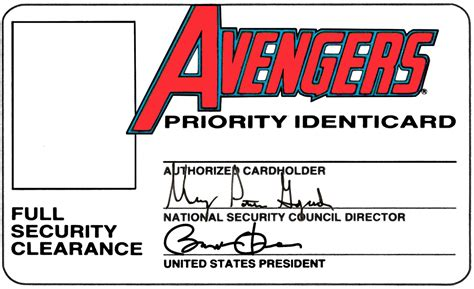 printable superhero id cards robert atkins art war machine avengers cards