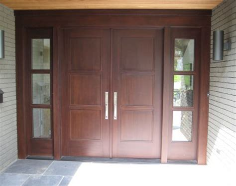Flat Front Doors 07 Front Door Contemporary Flat Panel Door Entry System House1