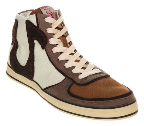 true religion shoes for mens true religion ace hi brown trainers shoes new ebay