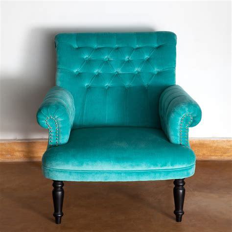 Turquoise Armchair by Ruby Traders Ruby Traders