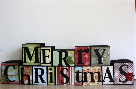 merry christmas block letters decorating ideas