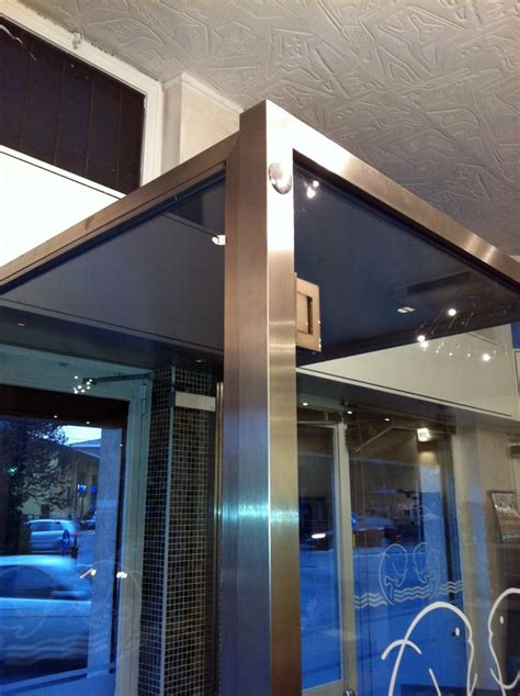 bussola ingresso foto bussola ingresso in acciaio e cristallo de artigiana