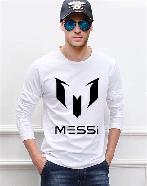 Tshirt Barcelona 13 barcelona messi sleeve t shirt 2016 new autumn 100 cotton high quality top tees hip