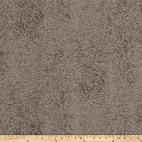 Buy Leather Upholstery by Fabricut Hayfield Faux Leather Taupe Discount Designer
