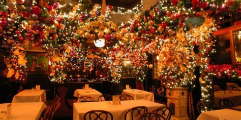 rolf s bar restaurant holiday decor restaurants snowy day rolf s new york