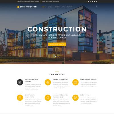 Architecture Templates Templates For Construction Companies