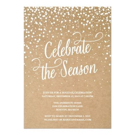 first snow holiday party invitation
