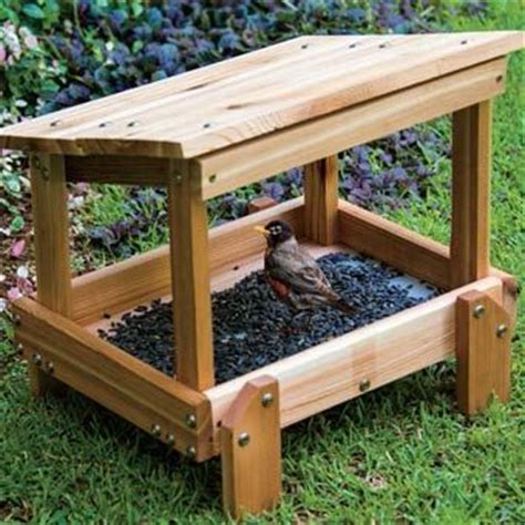 build  covered platform bird feeder woodworking