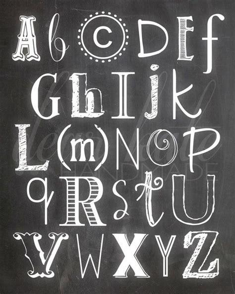 printable chalkboard fonts chalkboard lettering alphabet www imgkid com the image