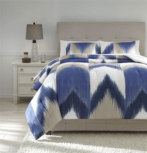 off white comforter set mayda blue and off white queen comforter set from ashley