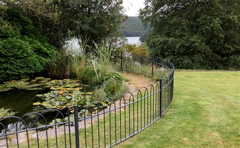 traditional wrought iron fencing  parkland  private