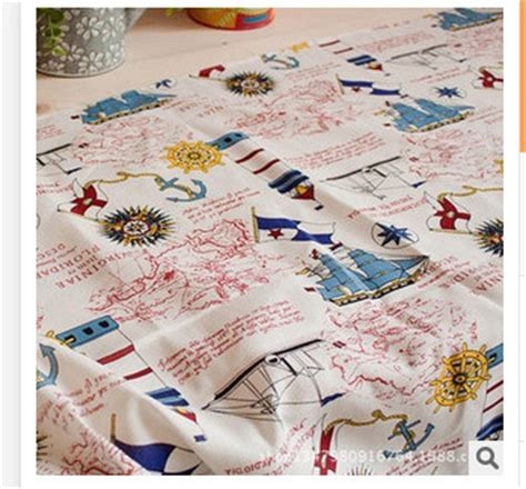 Nautical Patchwork Fabric - aliexpress buy the new cotton fabric quot nautical