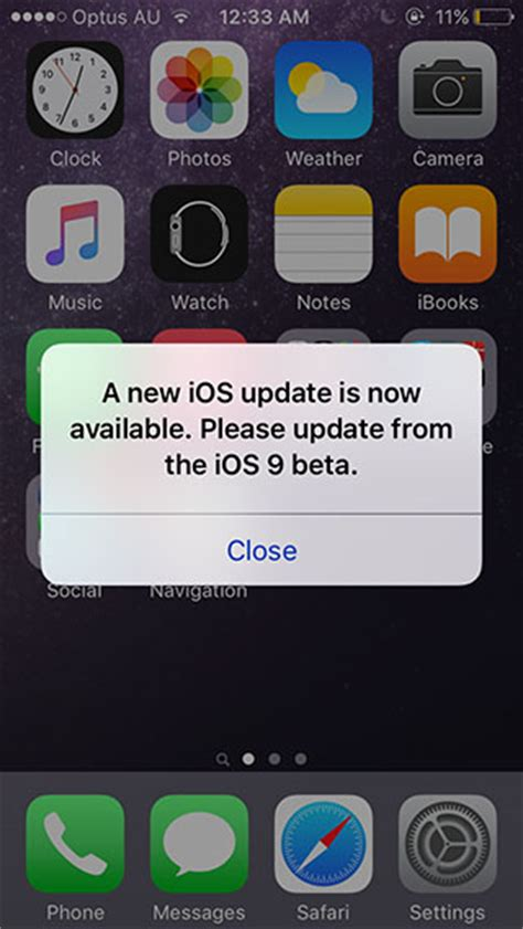 ios 9 beta users getting new ios update is now available popup message due to glitch