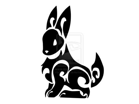 rabbit tribal tattoo designs tribal bunny weasyl