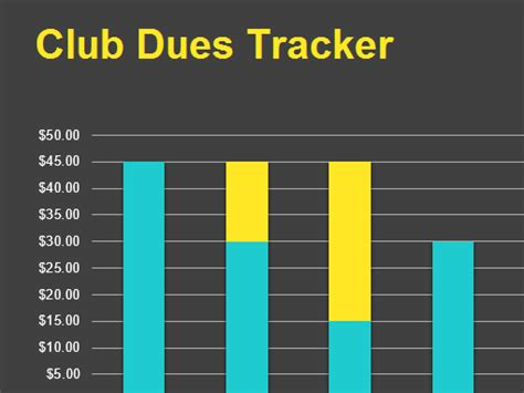 club dues tracker office templates