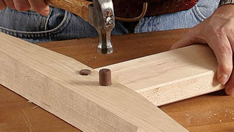 drawbored mortise  tenon finewoodworking