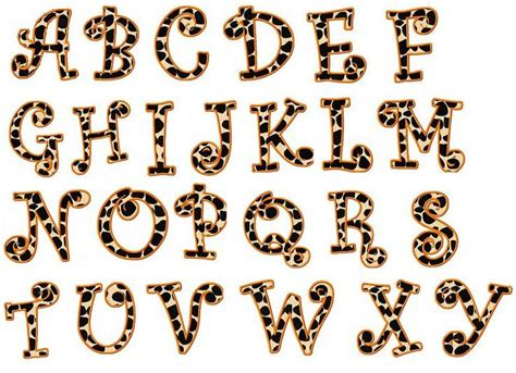 Animal Pattern Font | animal print letters printable leopard print letters