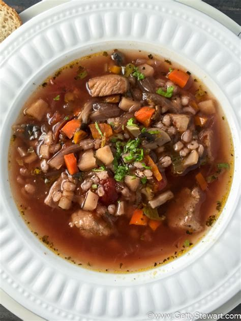 Delicious Homemade Beef and Barley Soup   Getty Stewart