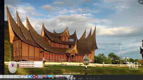 tutorial menggambar rumah adat sketchup ketrilan membuat atap rumah adat minangkabau