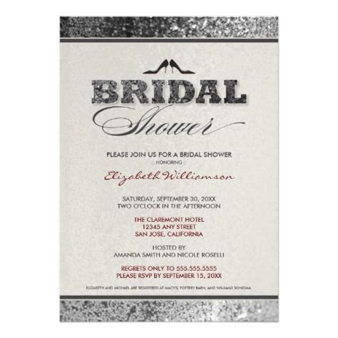 Sparkly Bridal Shower Invitations by 25 Best Ideas About Bling Bridal Showers On