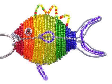 beaded fish keychain wow imports beaded fish keychain and zipper pull beaded