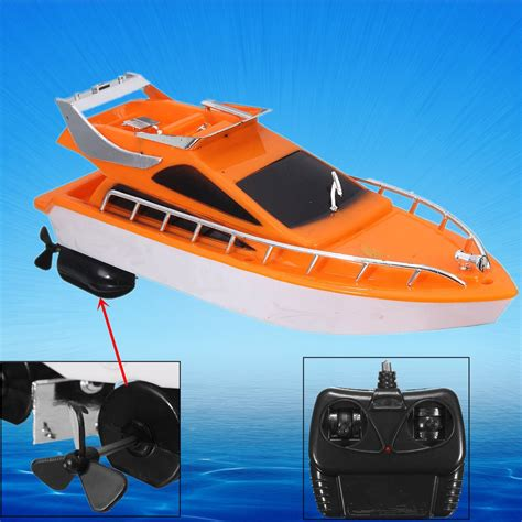 motor boat kid song hot sale orange mini rc boats plastic electric remote