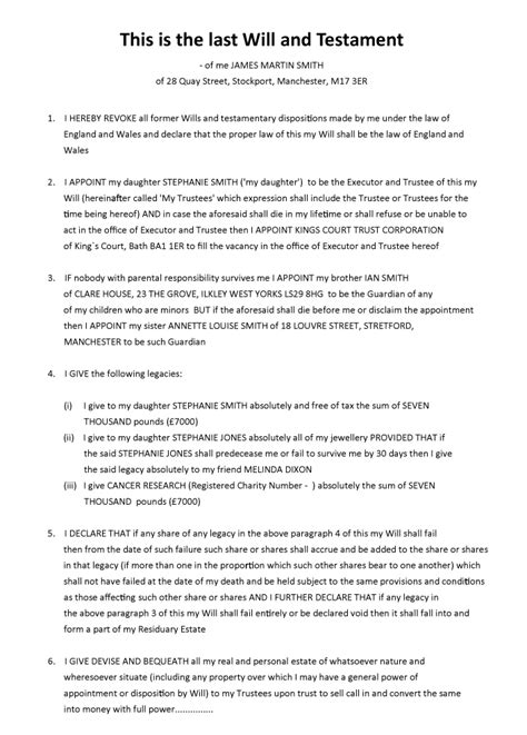 writing your own will free template 28 writing your own will free template collegesinpa org