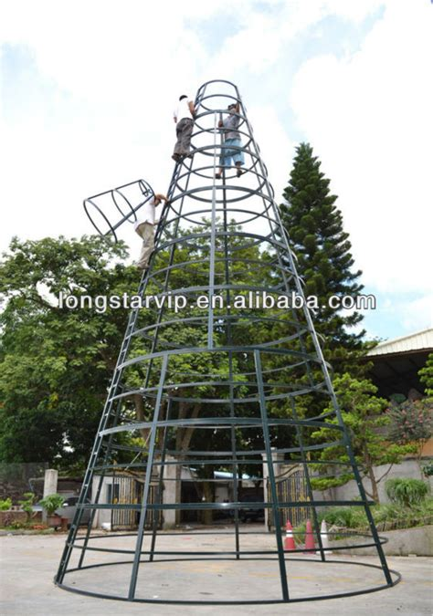 big gaint tree outdoor metal frame christmas tree 2013