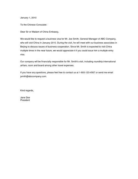 Invitation Letter For Visa Mexico letter of invitation for visa template resume builder