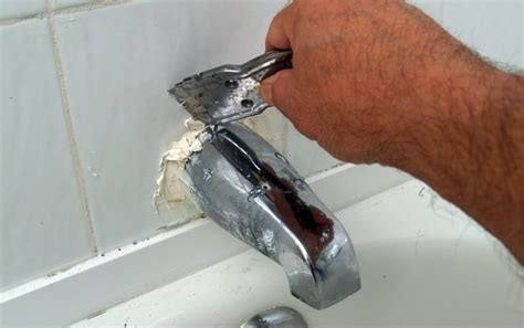 replacing a bathtub spout how to replace a tub spout bob vila