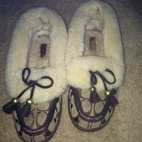 coach house shoes 49 off coach shoes coach moccasin slippers from koshie s closet on poshmark