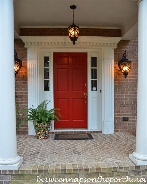 brick house with kelly moore red door outdoor outlet for large plugs