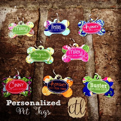 personalized id tags personalized bone id tag custom pet name tag monogram your