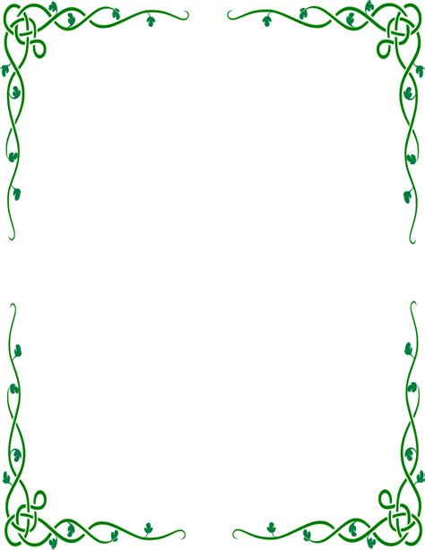 Decorative Borders by Decorative Green Border Page Border Clipart Cliparts And