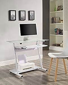 Small Computer Desk With Glass Top Computer Desk With Glass Top And Sliding Keyboard Shelf