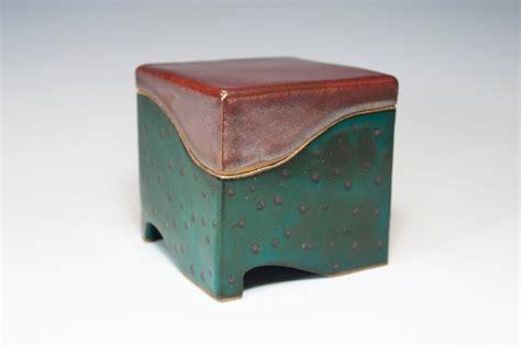Handmade Box - ceramic box slab built stoneware handmade pottery