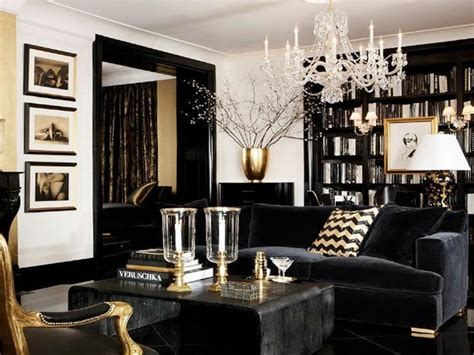 Black White Bathroom Ideas by Luxury Gold And Black Furniture For Modern Interiors