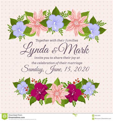 vintage flowers wedding invitations vector vintage floral wedding invitation card design