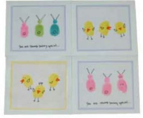 printable children s easter cards thumbprint easter card easter pinterest