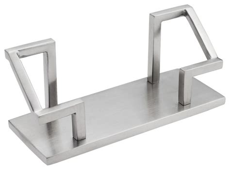Steel Desk Accessories Business Card Holder Stainless Steel Satin Finish Modern Desk Accessories By Artsondesk Inc