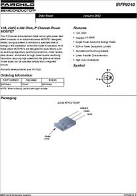 datasheet kd1047 transistor transistor mosfet irfp9240 28 images n 02 irfp9240 transistor p mosfet n 02 irfp240